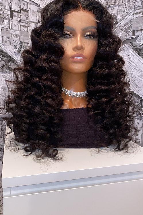 Curly Closure Wig 150%