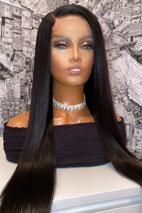 Straight Frontal Wigs 180%