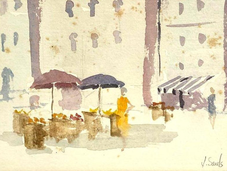 Blue Box Featured: The Watercolor Fine Art Process