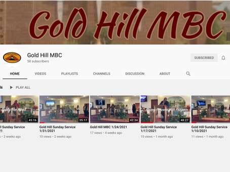 Subscribe to our YouTube Page! @Gold Hill MBC
