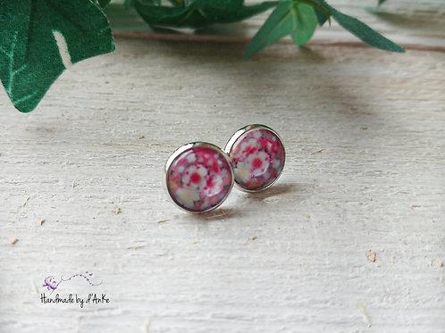 Ohrstecker Blumen rosa