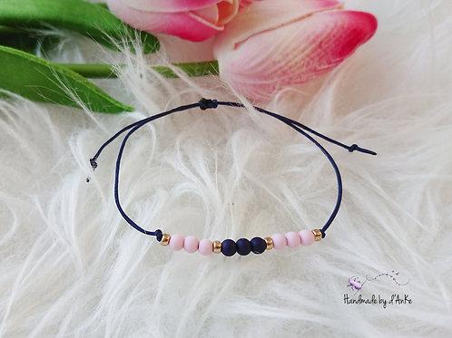 Armband rosa/dunkelblau