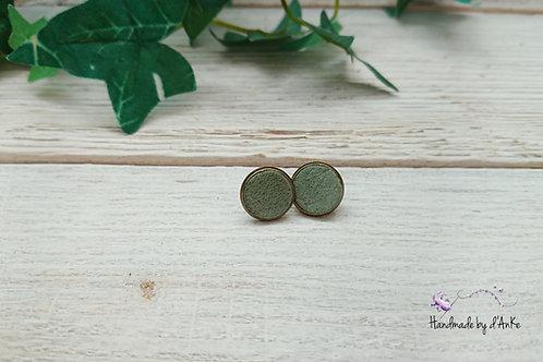 Ohrstecker Leder grün