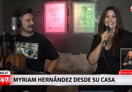 Teletón: Myriam Hernández en vivo con su hijo