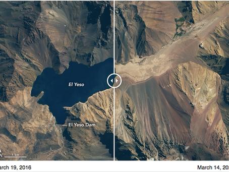Impactante: ¡la NASA muestra la sequía en Chile!