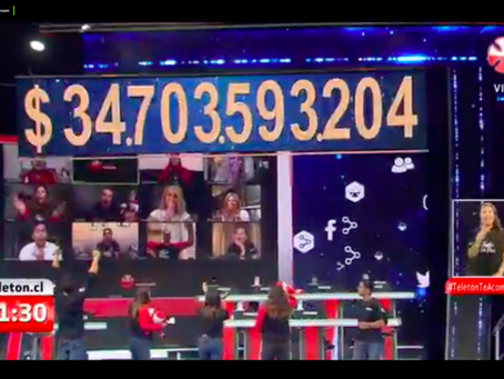 Teletón 2020: ¡ $34.703.593.204!