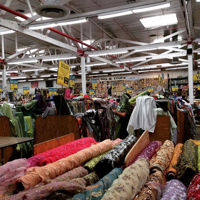 LA Fashion District fabrics