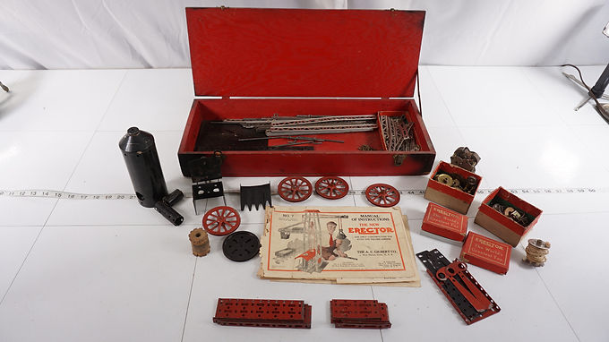 1930s The New Erector No 7 Game By The A Gilbert Co