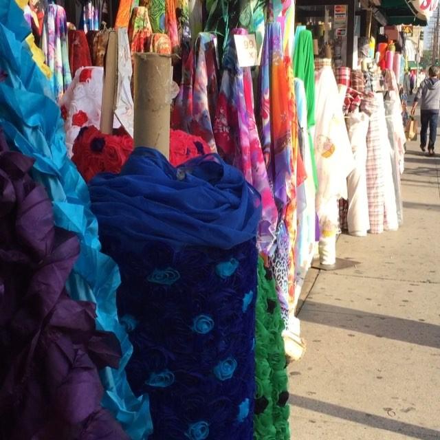 LA Fashion District fabrics galore!