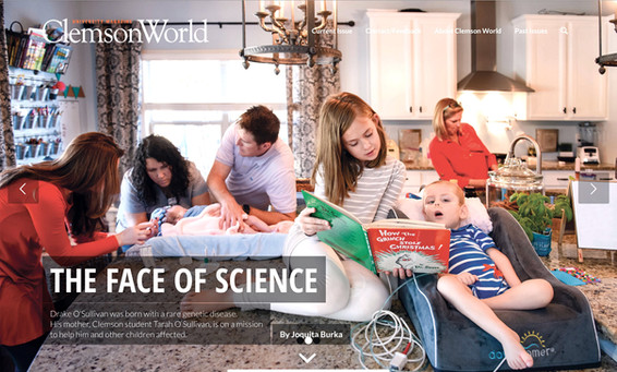 The Face of Science Clemson World Drake Rayden Foundation