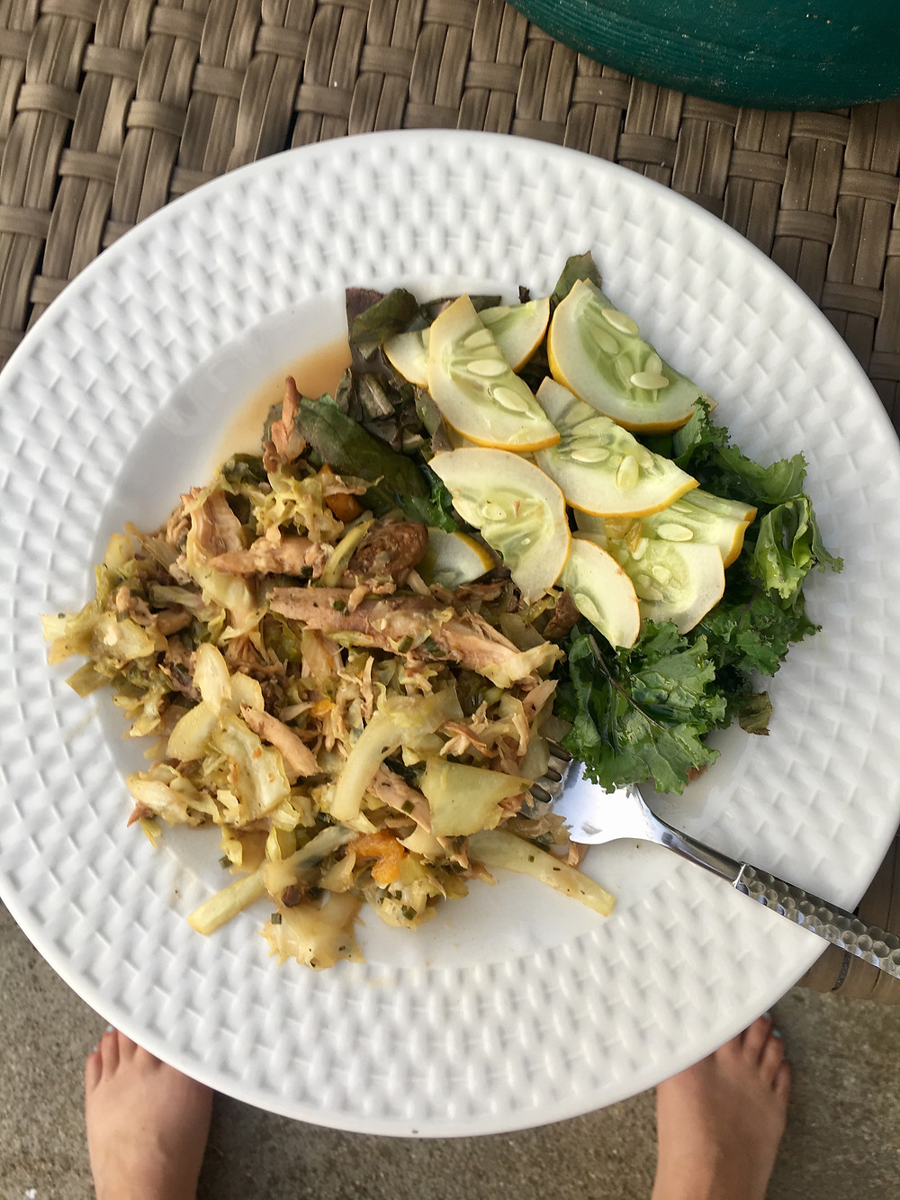 bone broth, leaky gut, cabbage, kale, grow your own, slow cooked chicken