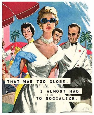 1950s image of socialites