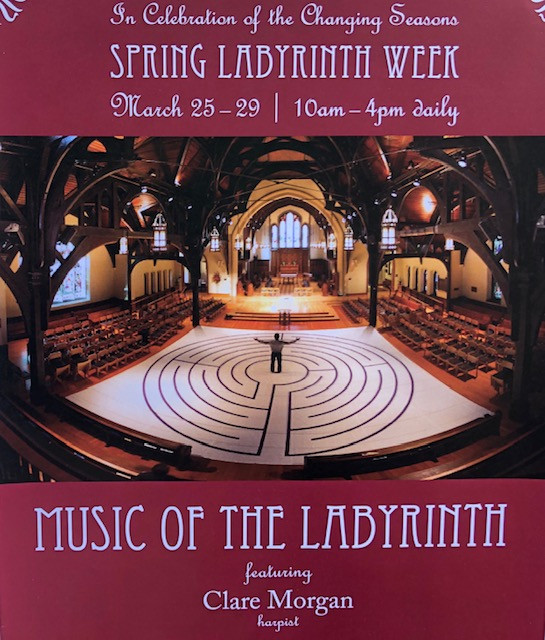 Poster inviting people to the Music of the Labyrinth