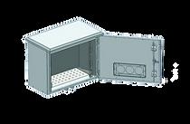 Gabinetes armários rack outdoor caixa hermética para telecom internet 19 polegadas com ventilação IP65 IP55