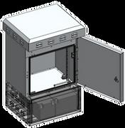Rack outdoor 19 polegadas com ventilação IP65 IP55 Caixa Hermética