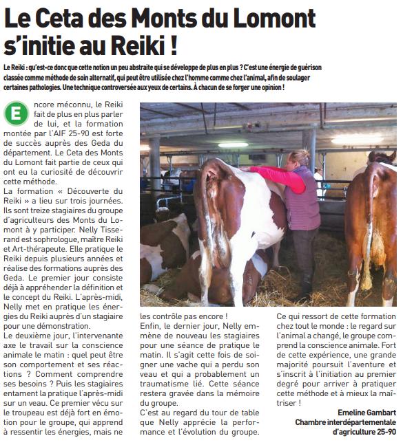 Le Reiki : le Ceta du mont de lomont