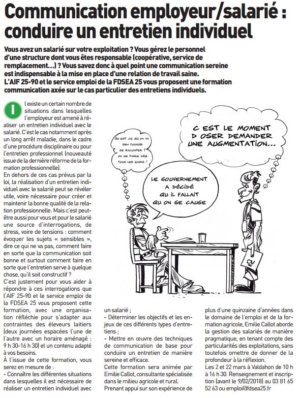 Communication employeur / salarié