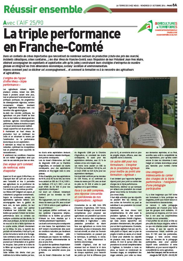 Triple performance en franche-comté