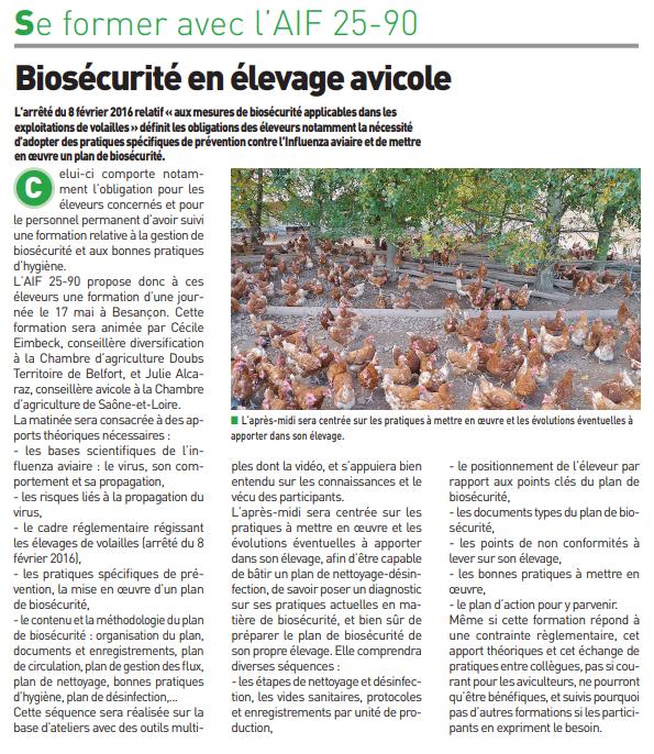 Biosécurité en élevage avicole