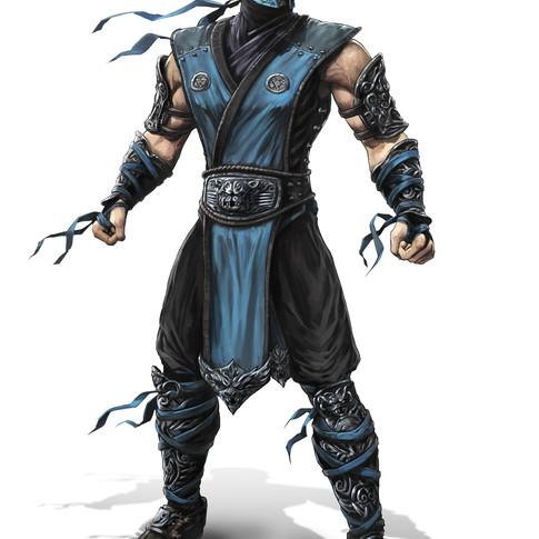 Sub Zero character design for Mortal Kombat 9