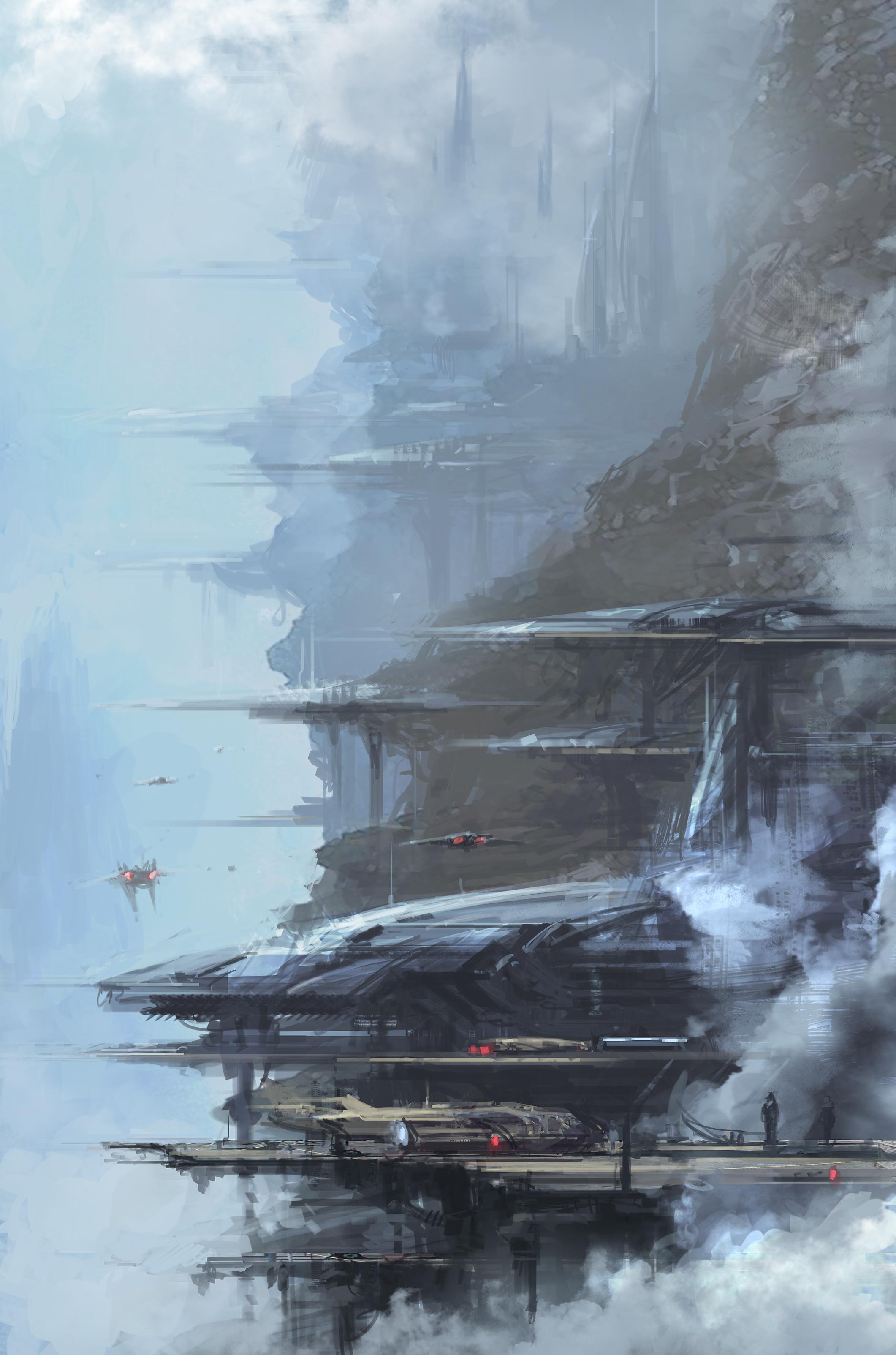 Concept Art Sci Fi Base