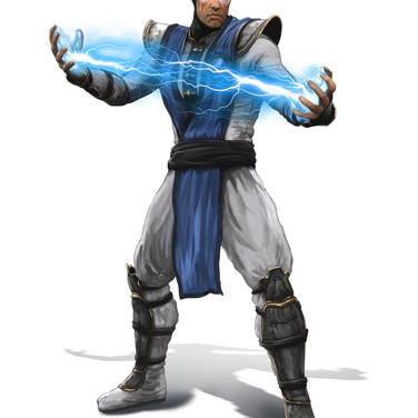 Raiden character design for Mortal Kombat 9