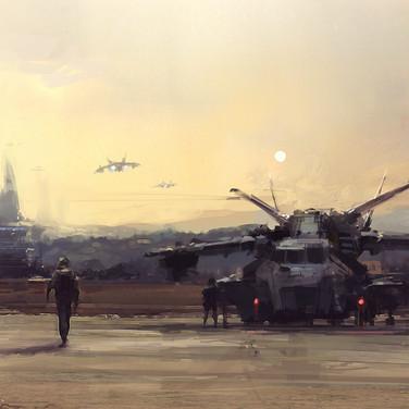 Futuristic air base speed paint