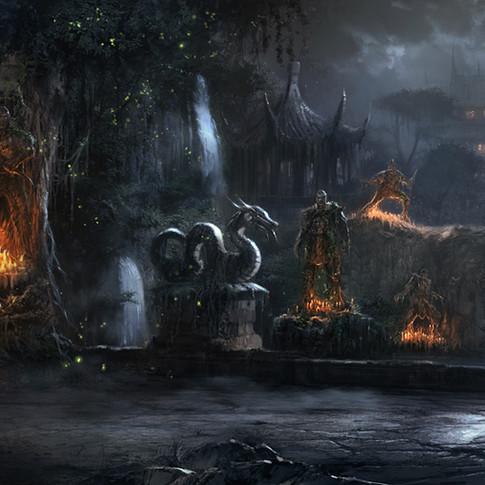 Shang Tsungs garden design for Mortal Kombat 9