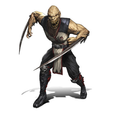 Baraka character design for Mortal Kombat 9