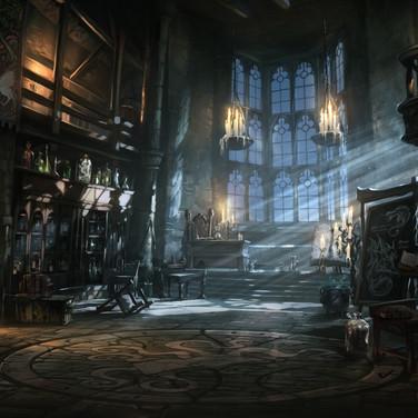 Harry Potter Book of Spells environment art