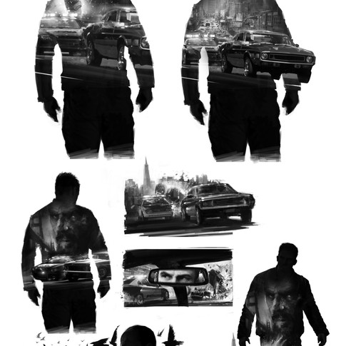 Driver computer game promo poster