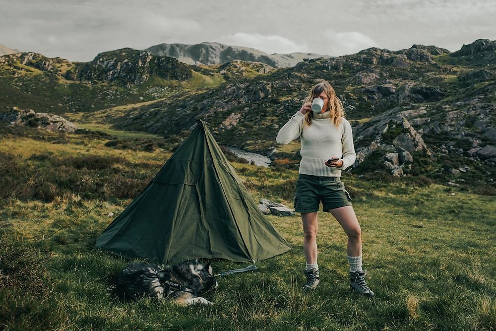Wildcamping Polish Lavvu tipi tent