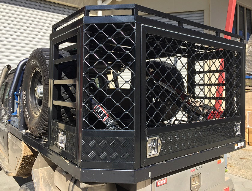 Custom-powdercoated-dog-and-storage-cage