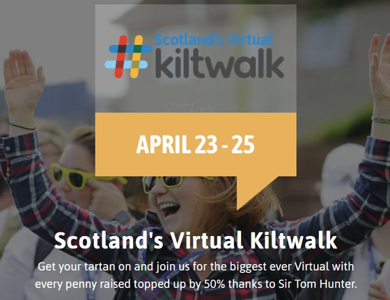 Join the Kitty Walkers  on the Virtual Kiltwalk