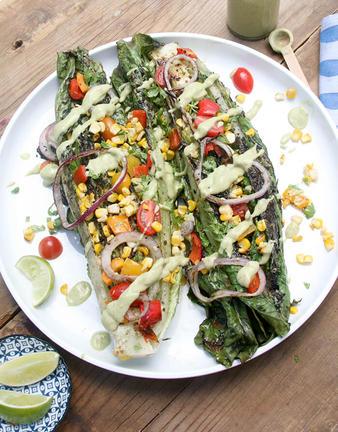 Southwestern Grilled Romaine Salad