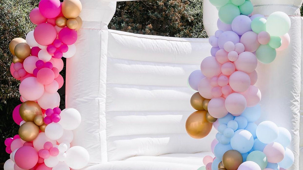 Inflatable White Jumping Castle