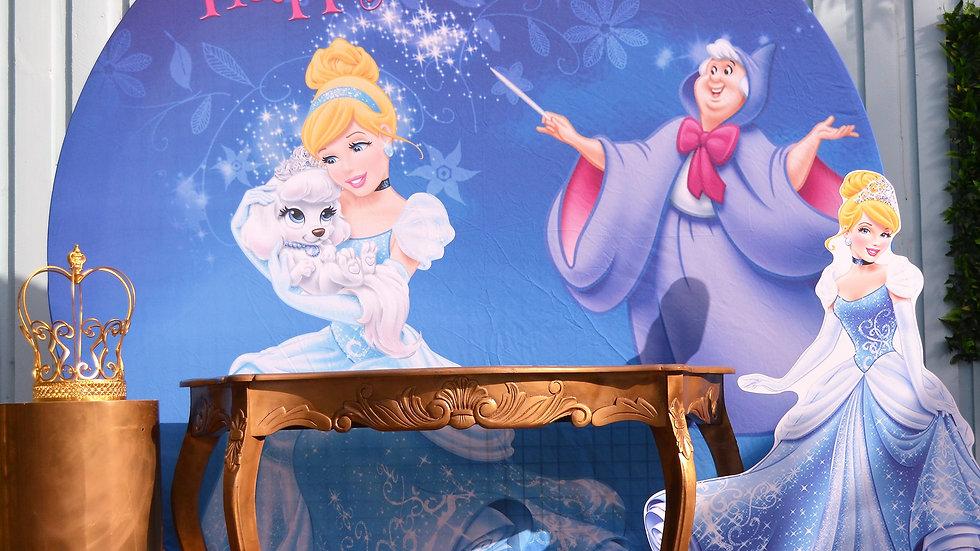 Cinderella Round Backdrop