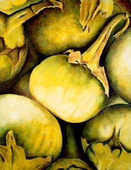Thai Eggplant, 220x180cm, oil on canvas