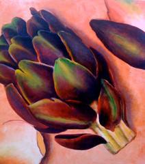 My Artichoke, 120x120cm, oil on canvas
