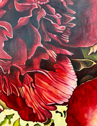 The Bloom Series, Comp. no. 3, 155x200cm, oil on canvas, 2019
