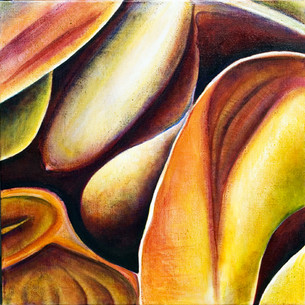 Yellow Fragment (Comp. No.7) 75/75, oil on canvas, 2005