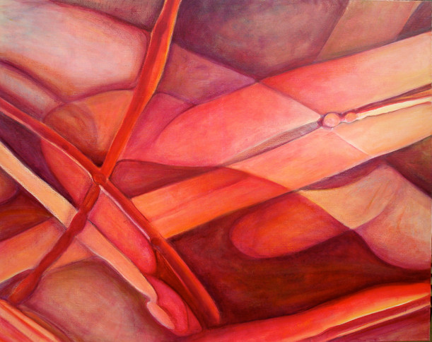 The Pink Series, (Comp. No. 2), 165 /130 cm, oil on canvas, 2008