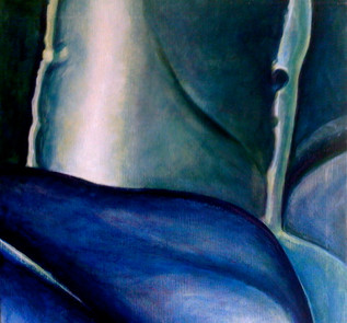 Blue Fragment (Comp.No. 2) 75/75cm, oil on canvas, 2004