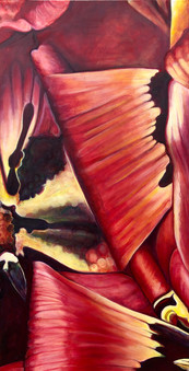 The Bloom Series, Comp. no. 8, 95x180cm, oil on canvas, 2020