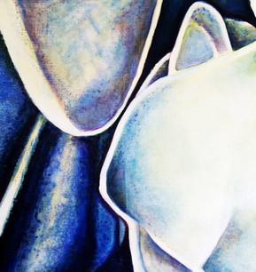 Blue Fragment No.3, 75x75cm, oil on canvas, 2004