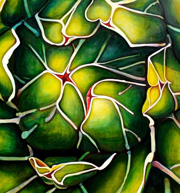 Succulent (Comp. No. 2) 190/200cm, oil on canvas, 2016