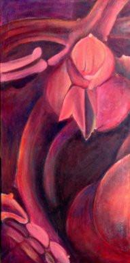 Wild Anenomes, Comp. No.7, 180x90cm, oil on canvas, 2008