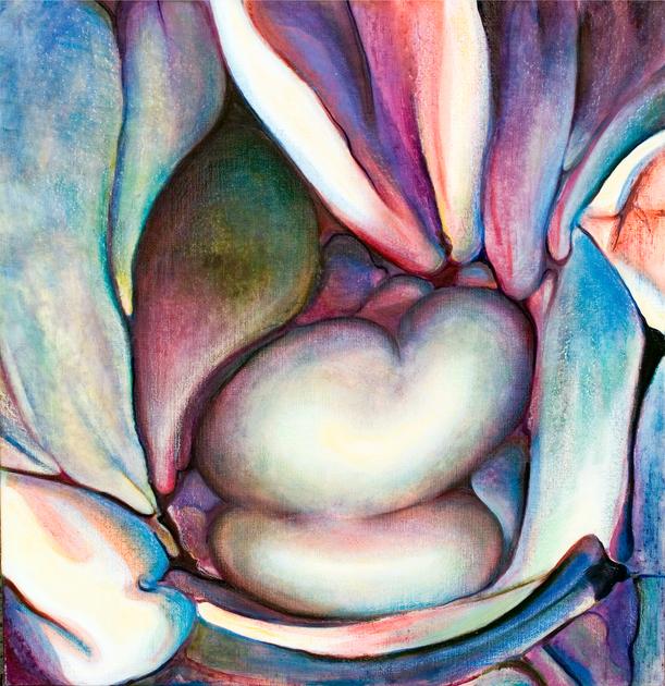 Wild Anenomes, Comp. no.5, 115X120cm, oil on canvas, 2003
