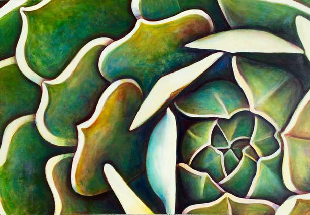 Succulent (Comp. No. 3) 130/190cm, oil on canvas, 2016