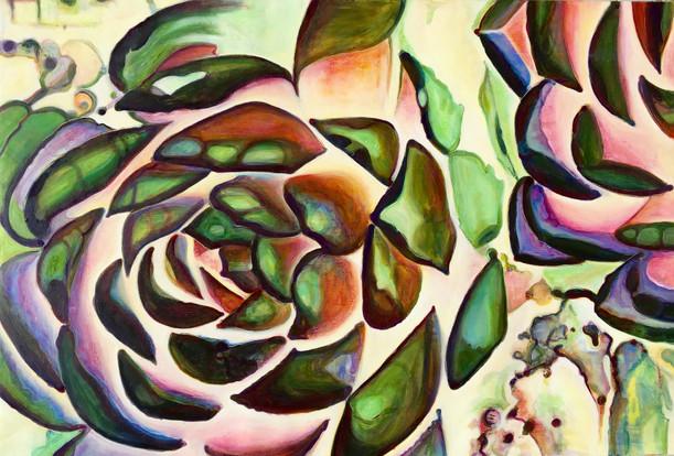 Succulent (Comp. No.4) 130/190cm, oil on canvas, 2016